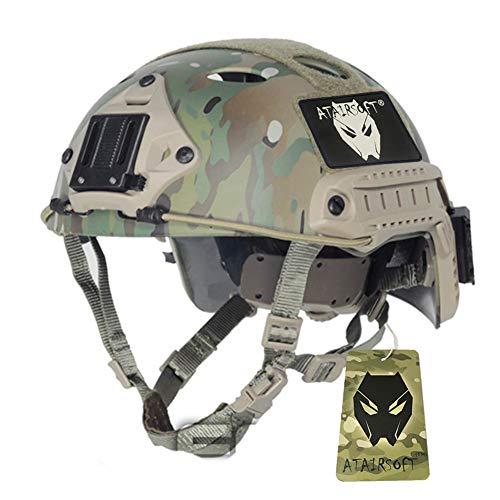 ATAIRSOFT Armée Militaire Style de SWAT Combat Type de PJ Fast Casque Multicam MC (L/XL) pour CQB Tournage Tactique Airsoft Paintball