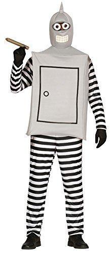Herren Silber Bender Futurama Robot Futuristisch Fach Kostüm Kleid Outfit Größe L (Futurama Kostüme)