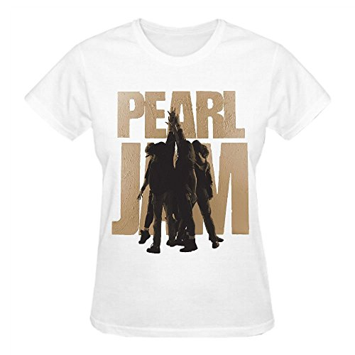 Pearl Jam Ten T Shirts For Women Funny Round Neck (Pearl Jam-bekleidung)