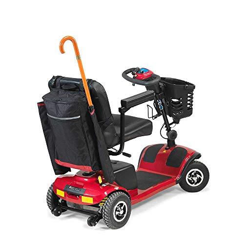 410DBwtGdNL - NRS Healthcare - Sillas de ruedas y accesorios para moto, bolsas y cestas, color negro y borgoña