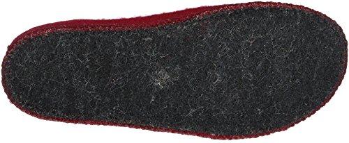 Haflinger Alaska 611001, Chaussons mixte adulte Rouge