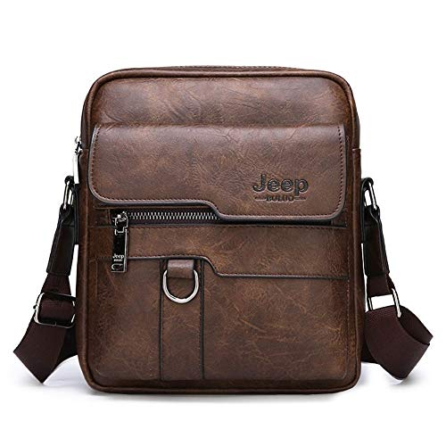 Luxusmarke Herren Umhängetasche Messenger Bag Business Casual Handtasche Herren Split Leder Umhängetasche große Kapazität (Color : Brown 8301-1) - Gewalt Name Ihr Ist