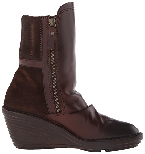 Fly London SIMI Damen Halbschaft Schlupfstiefel Braun (Dk. Brown/Espresso 001)