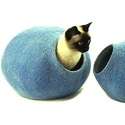 Cuccia a grotta per gatti in Lana di pecora