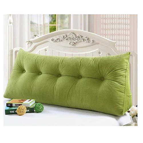 Rückenkissen, Bett-Rückenstütze Keilform, Rückenstützkissen, for Bett & Sofa, 200 cm, Ideal for 2 Personen, Praktisches Seitenfach,Flanellstoff,Bezug Waschbar (Color : 2)