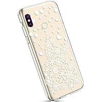 YSIMEE para Fundas Xiaomi Redmi Note 6 Pro Estuches,Fundas Transparente Silicona Goma Suave Ultra Fina Delgado Gel Bumper TPU Goma Protectora Carcasas para Xiaomi Redmi Note 6 Pro -Pila de nieve