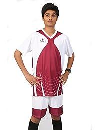Triumph Men's Polyester Football White V Neck Uniform
