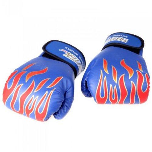 Preisvergleich Produktbild SUTENT PU MMA professional Flamme Muay Thai Training Punching Sparring Boxhandschuhe blau