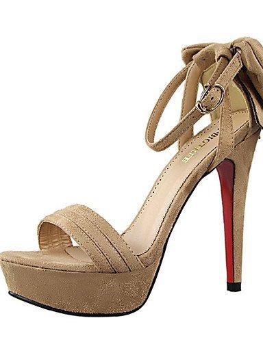 WSS 2016 Chaussures Femme-Décontracté-Noir / Rose / Orange / Kaki-Talon Aiguille-Talons-Talons-Laine synthétique khaki-us8 / eu39 / uk6 / cn39