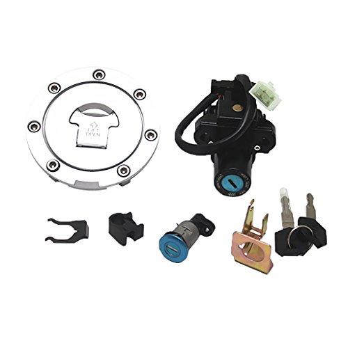 Gazechimp Interruptor de Encendido Tapón de Gasolina Bloqueo Llaves para Honda CBR...