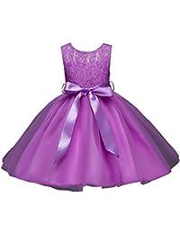 ZAMME Niñas sin mangas Niños Vestidos Niñas Vestidos Princesa Vestidos Trajes