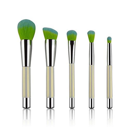 FUBULECY 5 Maquillaje pincel traje portátil verde