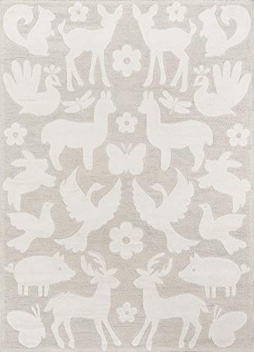 Classic Collection Teppich (Momeni LMOINLMI-7GRY2030 Lil Mo Classic Collection Teppich, 61 x 91 cm, Grau)