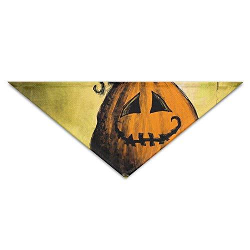 oween Pumpkin Pattern Dog Bandanas Scarves Triangle Bibs Scarfs Funny Basic Neckerchief Cat Collars Pet Costume ()