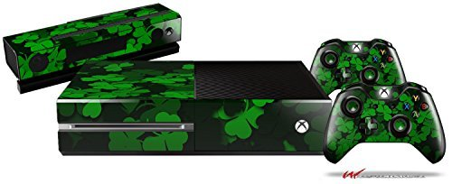 St Patricks Clover Confetti - Holiday Bundle Decal Style Skin Set fits XBOX One Console, Kinect and 2 Controllers (XBOX SYSTEM SOLD SEPARATELY) by WraptorSkinz