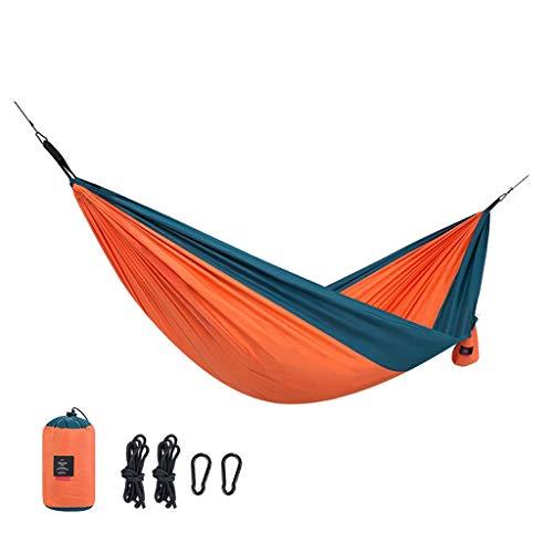 LF stores-Hängematten Hängematte Outdoor Doppel Rollover Erwachsene Kinder Feld Camping Klappstuhl Komfortable Schaukel 180 KG / 396LB (Color : Orange, Größe : 290 * 148cm)