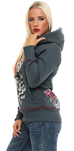 Mafia & Crime Damen Kapuzensweater Hoodie Grau