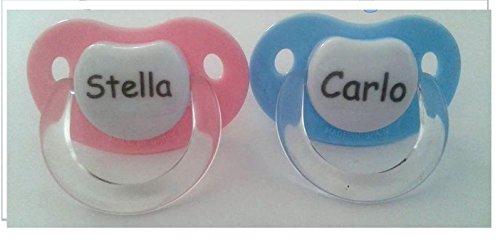 Chupete personalizable con nombre o frase A Elegir azul claro