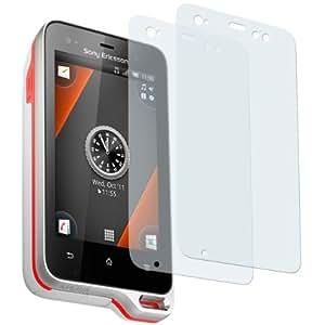 2 x mumbi Displayschutzfolie Sony Ericsson Xperia Active Displayschutz AntiReflex antireflektierend