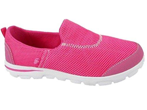 Foster Footwear - Zapatillas De Lona Fucsia Para Mujer