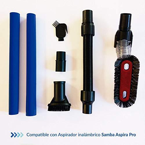 SAMBA Kit Accesorios Aspirador Inalámbrico para Aspiradoras Escoba Aspira Pro, Cepillo Suave, Manguera...