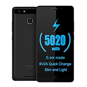 "Vernee Thor E 4G Smartphone MTK6753 64bits 3GB + 16GB 1.3GHz Octa Core Android 7.0 5.0"" On-cell HD 1280 * 720 Pixels Écran VOS 5MP + 13MP Housse en Métal Brossé OTG Fast Charge E-ink Power Saving"