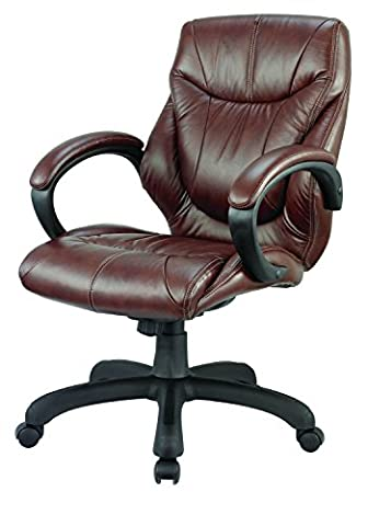 Nicer Furniture® Genuine Leather Middle Back Executive Chair