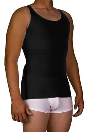Underworks Mens Extreme Gynecomastia Chest Binder Tank Top X-small Black