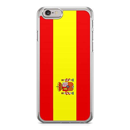 02011955051 Funda Carcasa Bandera España para iPhone 7 Silicona Transparente TPU  Flexible