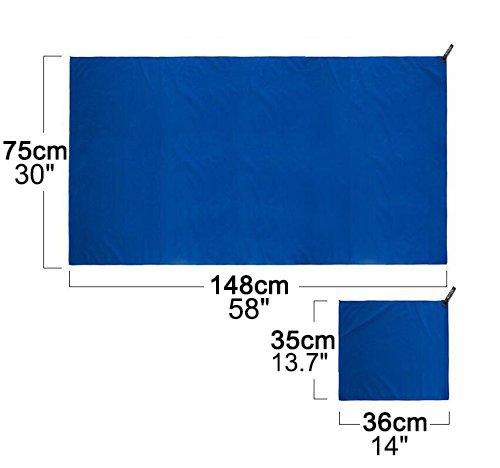 2 Stück Wolfyok Mikrofaser Sport Handtuch, wasseranziehendes und schnell trocknendes Handtuch Set,...