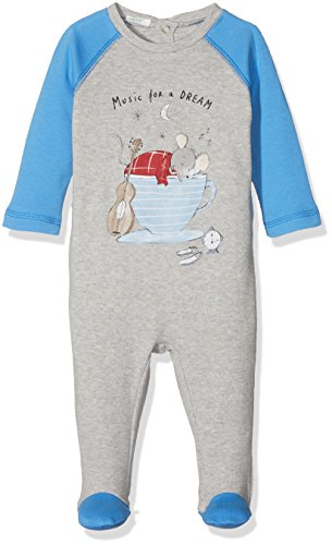 United Colors of Benetton Baby-Jungen Schlafanzughose Pyjama Overall with Print, Grau (Grey 501), 74