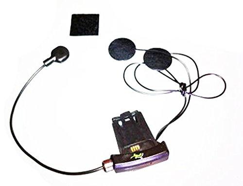 Kit audio casque microphone Pair Filage cintrable rechange zazzamilo Interphone moto BT500ou BT100originale pour casques intégrales
