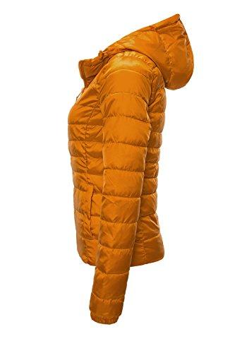 ONLY Damen Steppjacke Übergangsjacke Kapuzenjacke, Orange Marmalade - 2