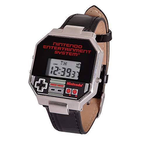 Nintendo Armbanduhr NES Controller Digital schwarz