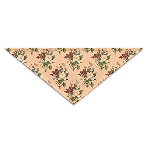 Gxdchfj Floral Background Triangle Pet Scarf Dog Bandana Pet Collars for Dog Cat - Birthday -