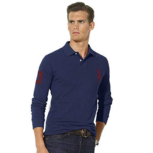 Big Pony Shirt (Ralph Lauren Langarm Poloshirt Big Pony Custom Fit (XL, Marineblau))
