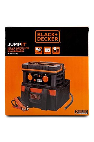 Black+Decker JS700TKCB Arrancador y Compresor de 350 A con Bolsa