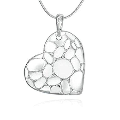 Glas Bead Kronleuchter Beleuchtung Lampe (amdxd Jewelry Anhänger vergoldet Ketten für Frauen Silber Pebble Herz Anhänger)