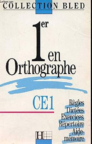 1er En Orthographe CE1