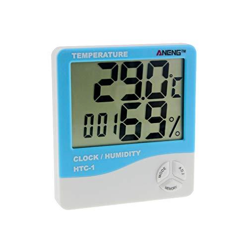 Probador de la Humedad Detector HTC-1 Temperatura Metro de la Humedad 24 Horas de Reloj Temperatura Soporte de sobremesa