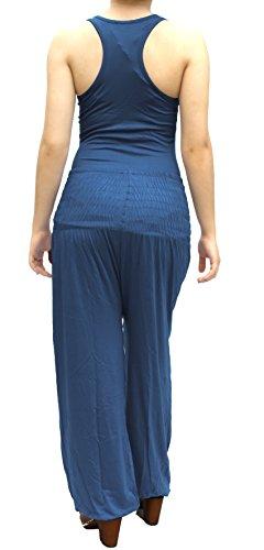 Damen Pumphose / Haremshose / Yoga Pant Stretch Pump Sport Aladin Hose Jeans Grau
