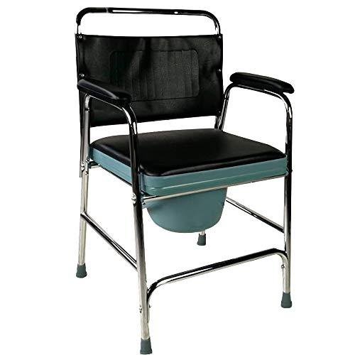 410DOSBXteL - Mobiclinic, Velero, Silla con WC o inodoro para discapacitados, minusválidos, ancianos, Plegable, Reposabrazos, Asiento ergonómico, Conteras antideslizates
