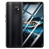 Hukz Acht Kerne 6,1 Zoll 4G verdoppeln SIM Kamera Smartphone Androides 8.1 Handy,Smartphone Mit Vier Kameras (Schwarz)