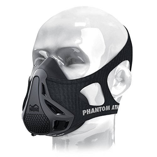 Phantom Athletics Erwachsene Training Mask Trainingsmaske, Schwarz, L Image