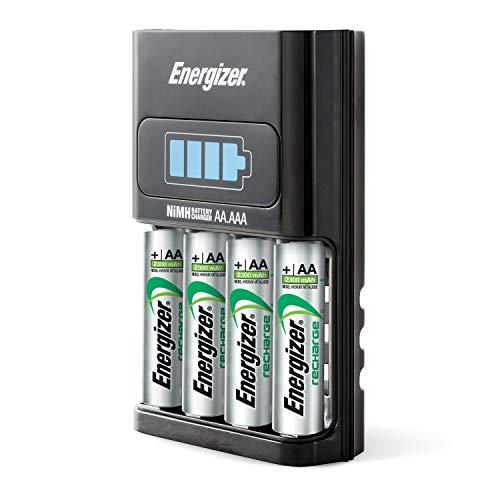 Energizer Recharge 1 Stunden Ladegerät für wiederaufladbare NiMH Batterien der Größen AA und AAA -