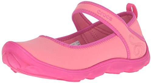crocs Girls Duet Busy Day Shoe GS Coral/Candy Pink