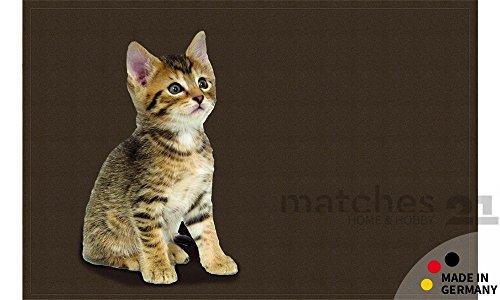 matches21-fumatte-fuabstreifer-flat-ktzchen-braun-50x80x05-cm-extra-flach-rutschfest-maschinenwaschb