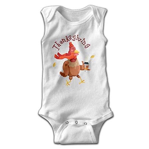 fhcbfgd Toddler Baby Girl's Sleeveless Rompers Thanksgiving Turkey Outfit Bodysuit (Boy Thanksgiving-outfit Toddler)