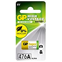 High Voltage 6v Alkaline Battery in reference to 4LR44, 476A, A544, V4034PX and PX28A Camera and Flash Batteries