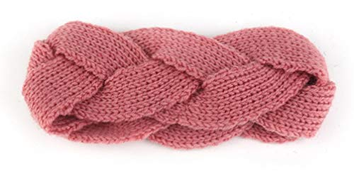 DMNIN Stirnband Ladies Cross-Knit Haarband, Wolle Warmes Stirnband, Stretch-Haar-Accessoire, Stirnband Retro Elastisches Stirnband Feuchtigkeitsspendende Stretch-Haarband Verdreht Niedlichen, B (Niedlichen Haar-accessoires)